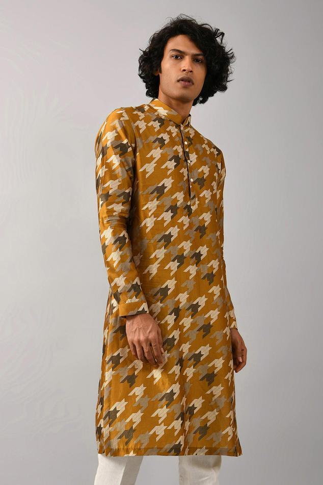 Silk Printed Kurta