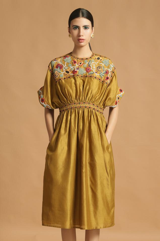 Chanderi Midi Dress