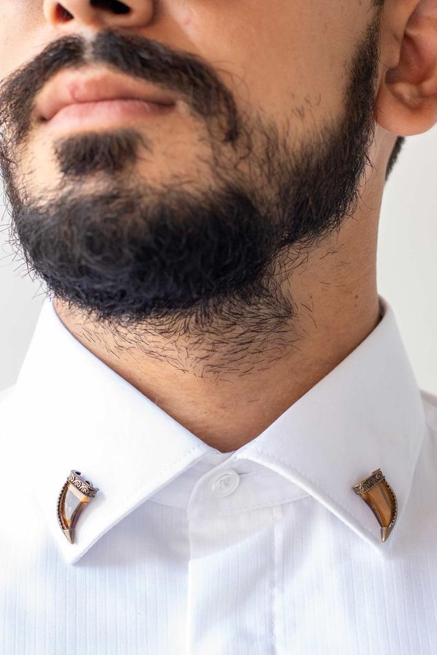 Tiger Eye Collar Tips
