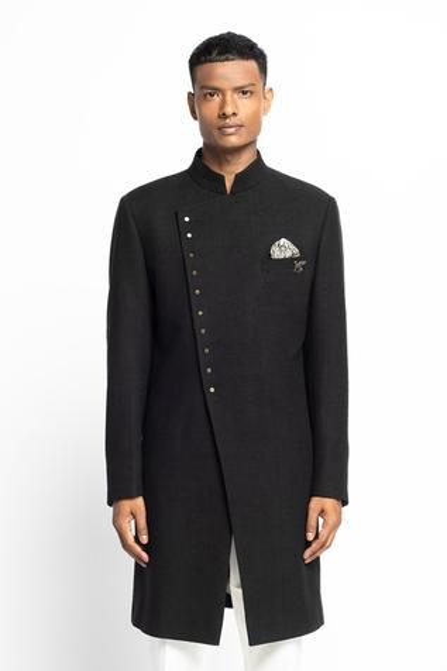 Matka Silk Sherwani Set