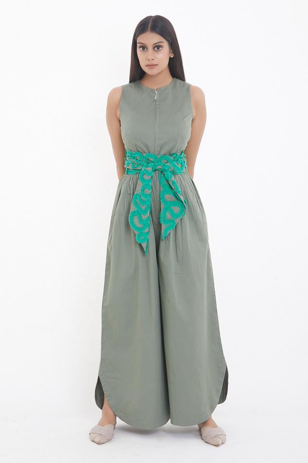 Cotton Jumpsuit with Belt