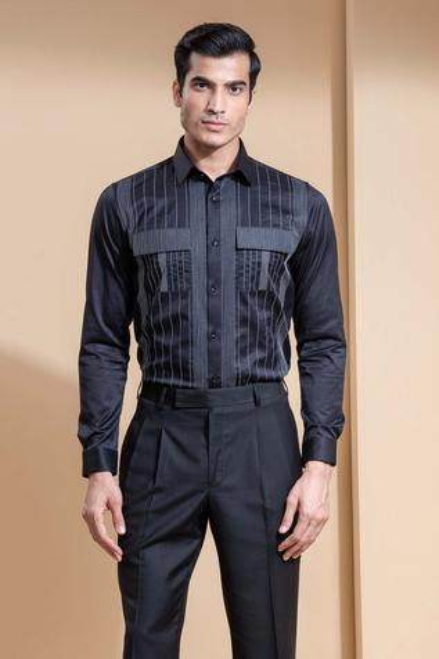 Slim-Fit Striped Cotton Shirt