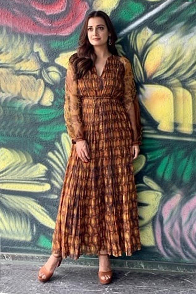 Printed Maxi Dress