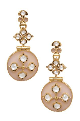 Rose Enamel Earring
