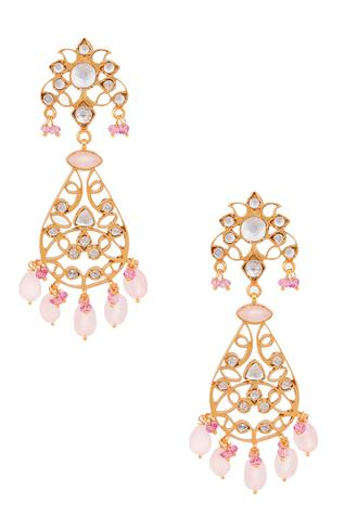 Rose Quartz Filigree Dangler Earring