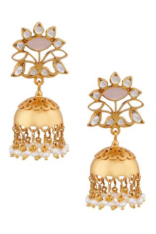 Rose Gold Jhumki Earrings