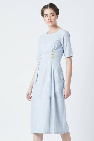 Nellie Knife Pleat Dress