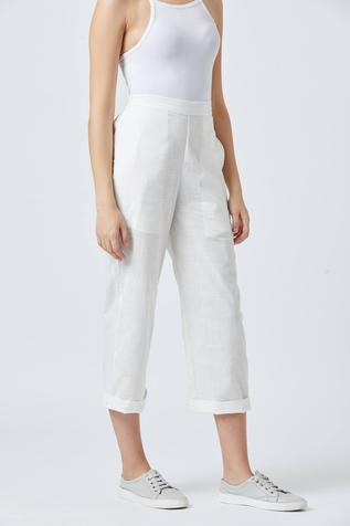 Tapered White Pants