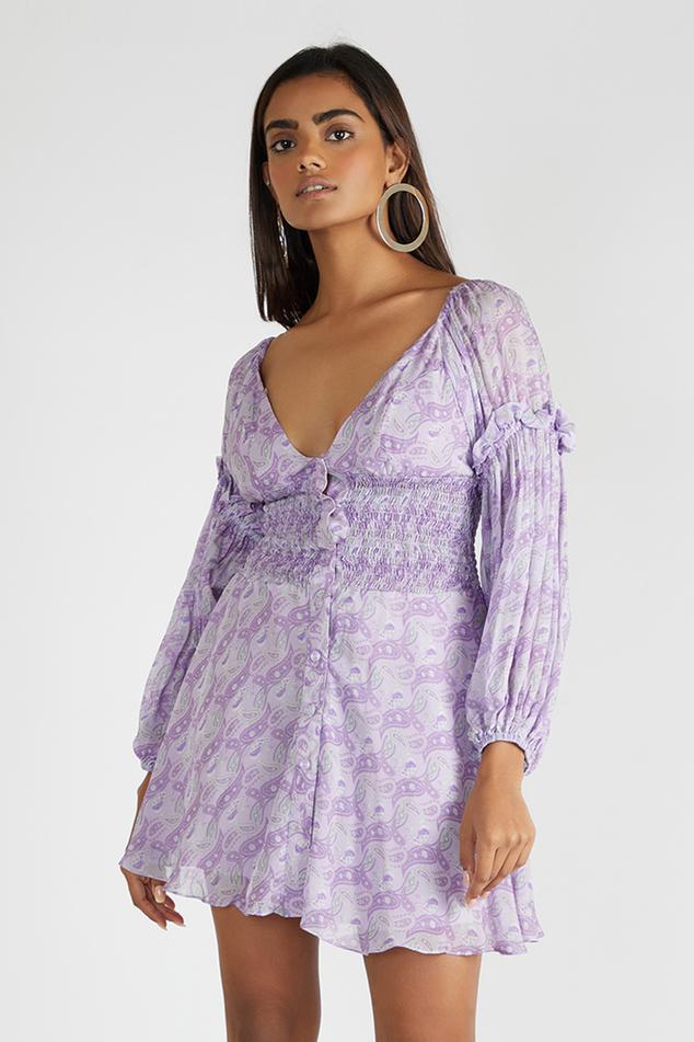 Printed Smocked Dress
