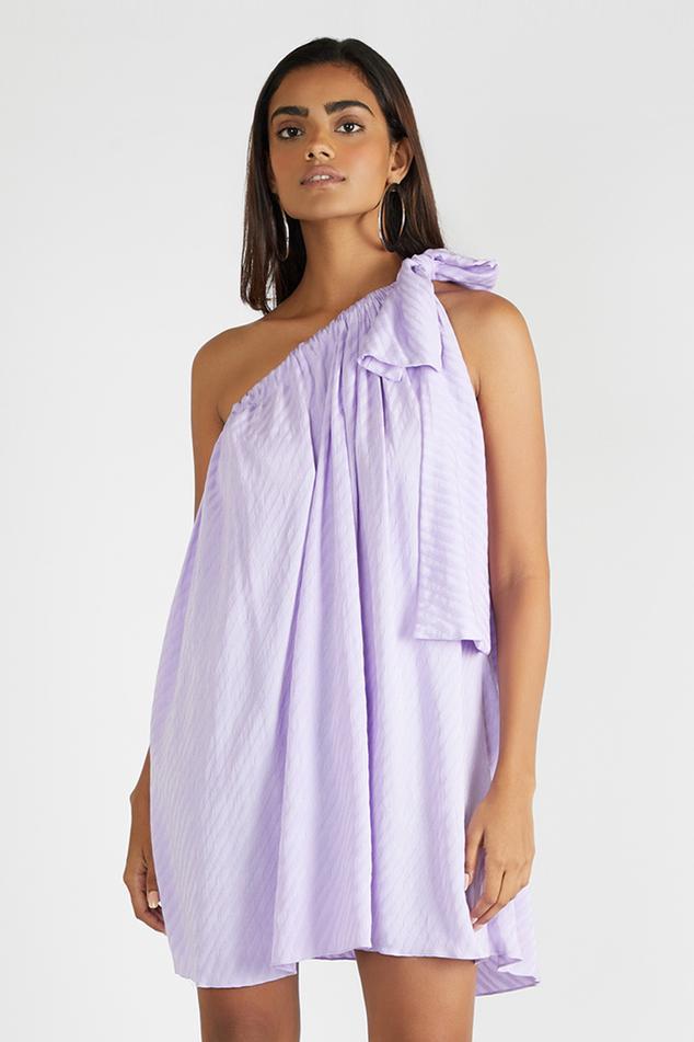 One Shoulder Flared Dress