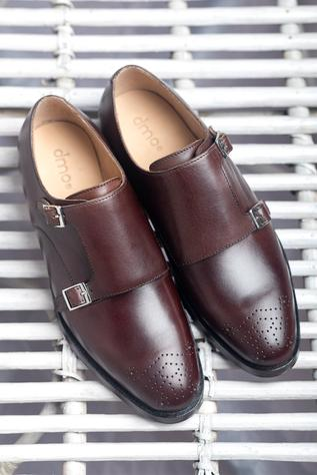 Brogue Double Monk Shoes