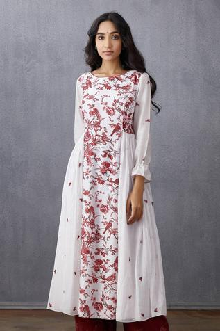 Handwoven Chanderi Flared Kurta