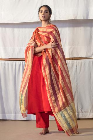 Linen Striped Dupatta