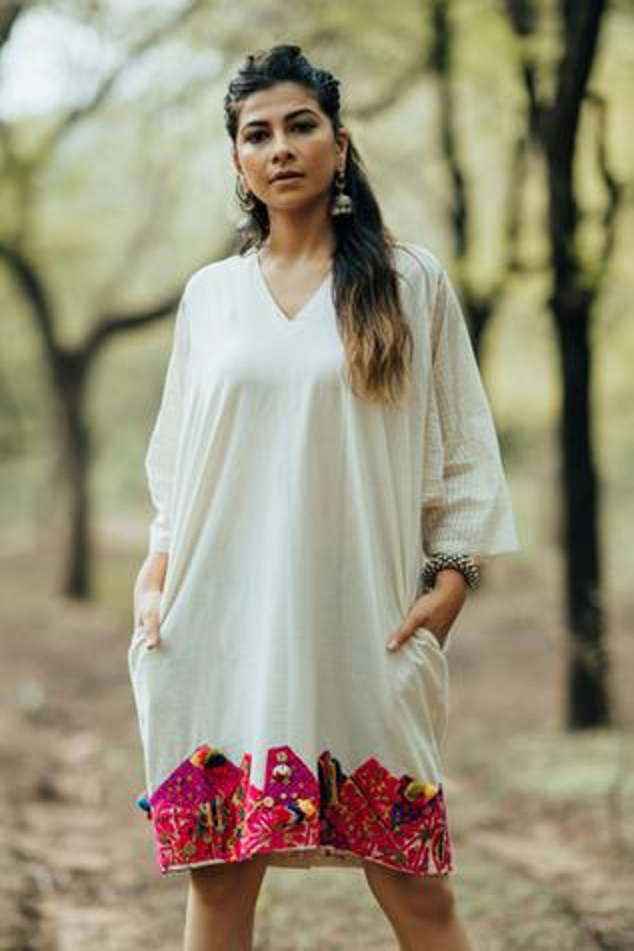 Handloom Cotton Patchwork Dress