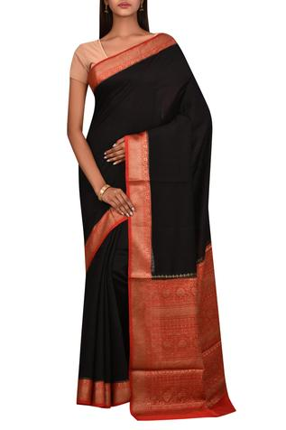 Silk Saree with Unstitched Blouse Fabric