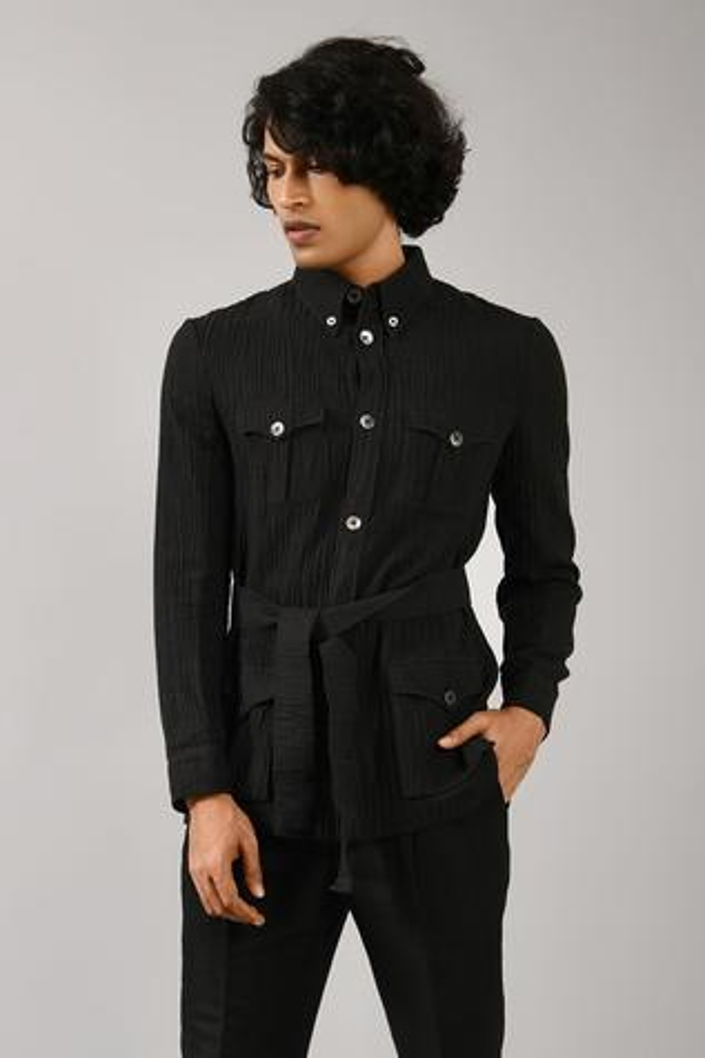 Linen Cotton Safari Jacket