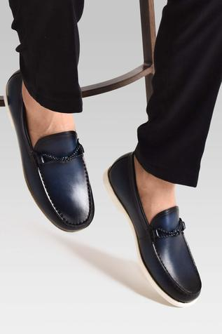 Hand Painted Braided Loafers
