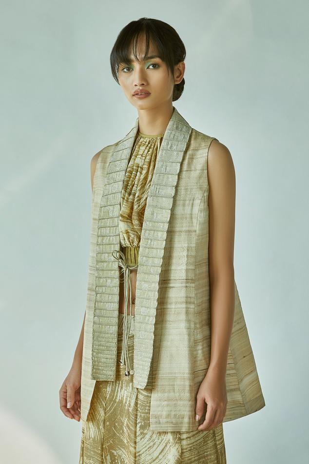Handloom Cotton Tussar Silk Jacket