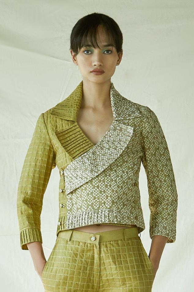 Chanderi Quilted Jacket