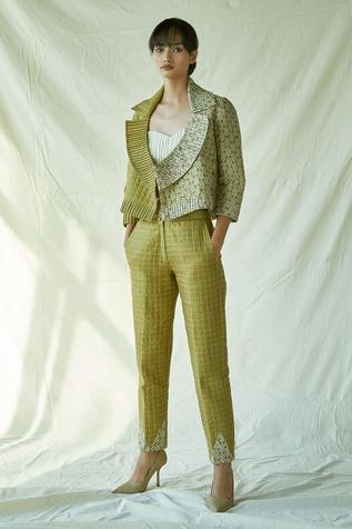 Chanderi Quilted Pant
