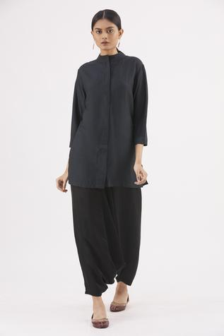 Handwoven Tunic with Draped Pant