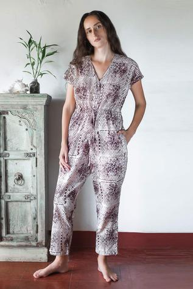 Organic Cotton Printed Jumpsuit