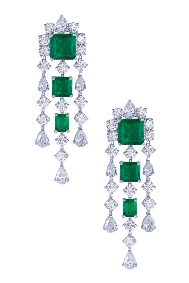 Floral Crystal Danglers