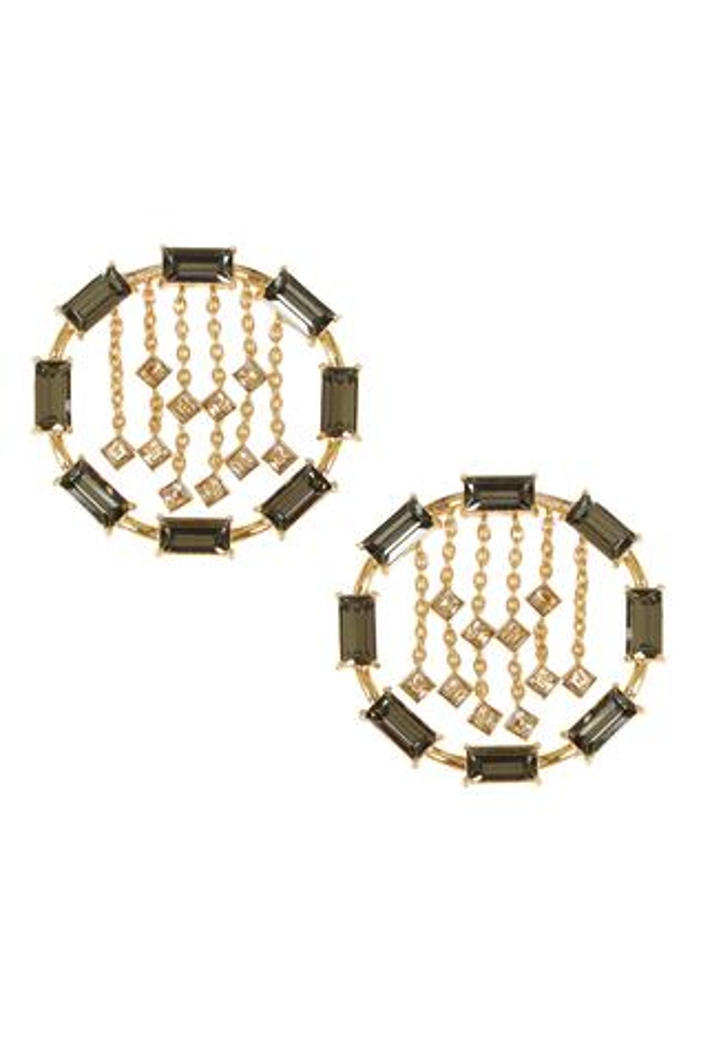 Crystal Chain Stud Earrings