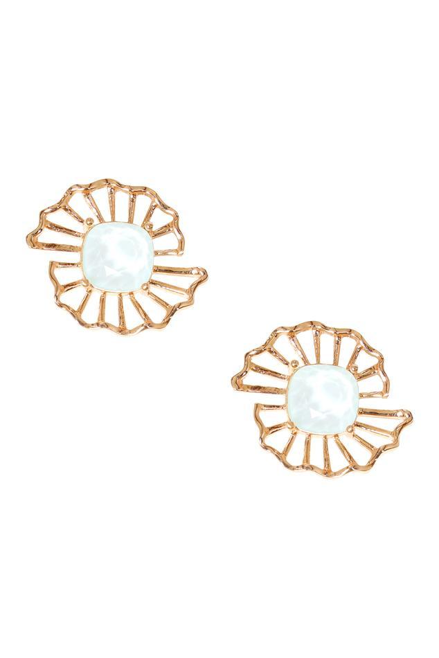 Crystal Floral Stud Earrings