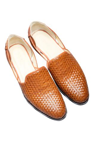 Leather Woven Mojris