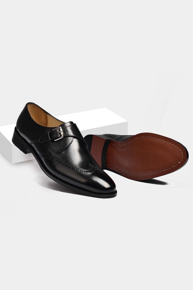 Single Monk Strap Brogue Shoes