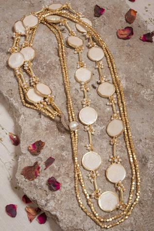 Bead Layered Long Necklace