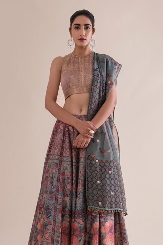 Handwoven Silk Lehenga Set