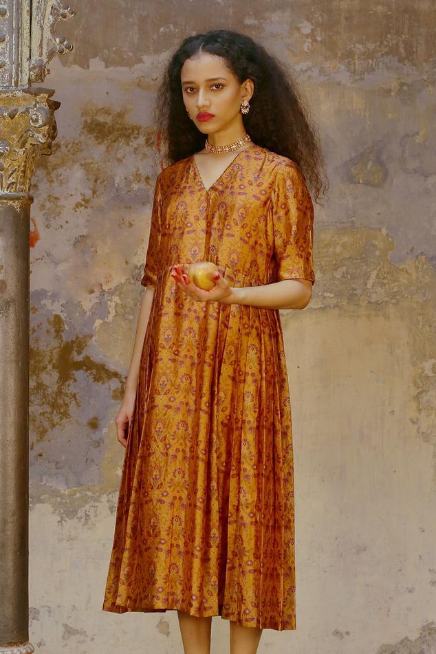Handwoven Silk Printed Dress