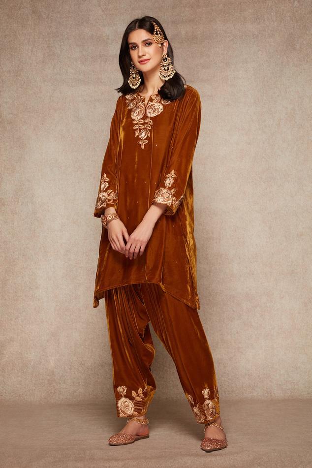 Velvet Kurta & Salwar Set