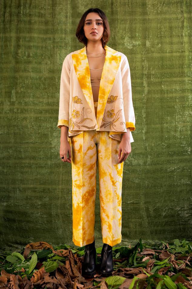 Handloom Linen Tie & Dye Reversible Jacket