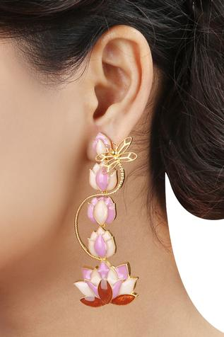 Lotus Tiered Danglers