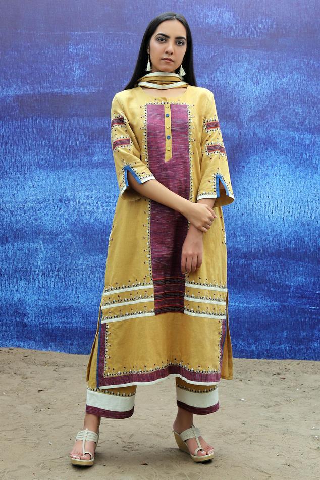 Handwoven Cotton Kurta Set