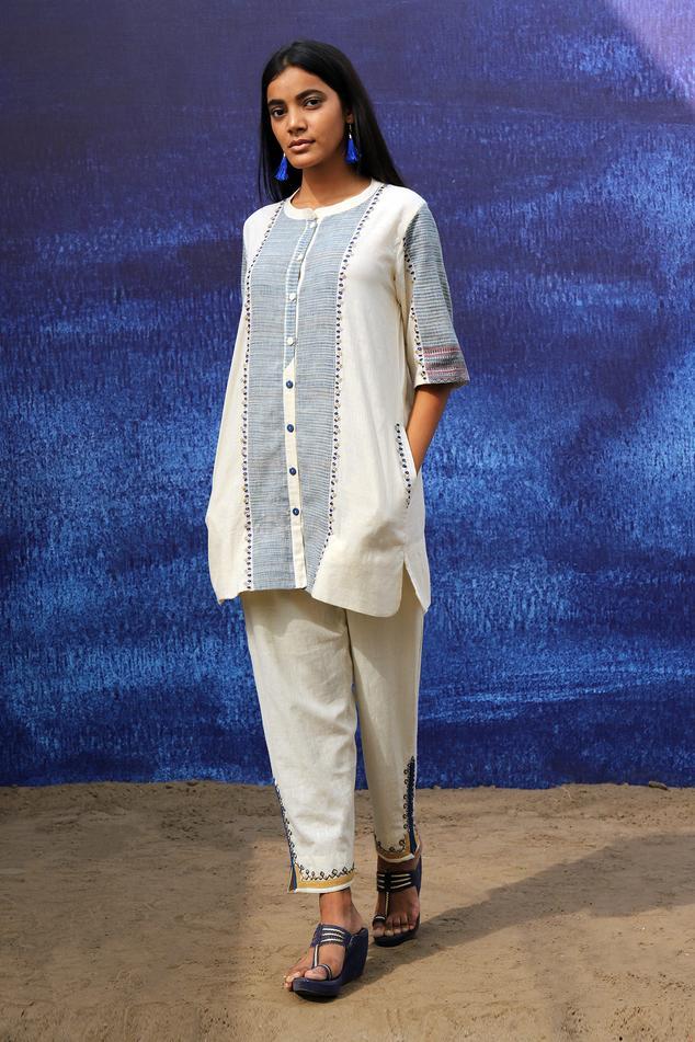 Handwoven Cotton Kurta & Pant Set