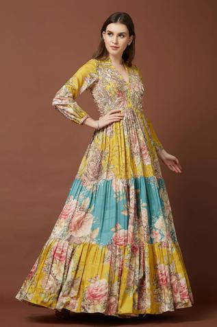 Tussar Silk Maxi Dress