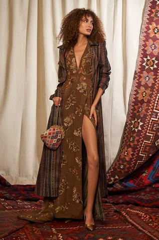 Hand Embroidered Maxi Dress
