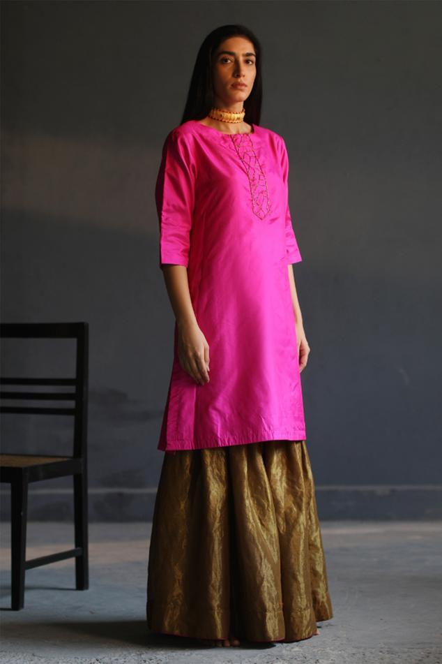 Silk Kurta & Sharara Set