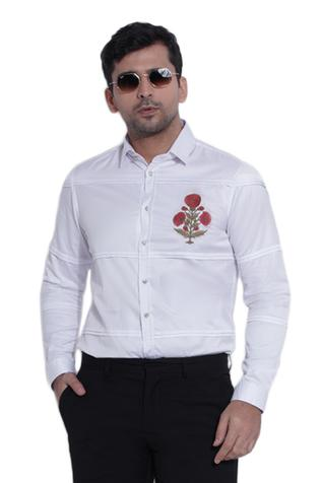 Slim-Fit Pleated Shirt