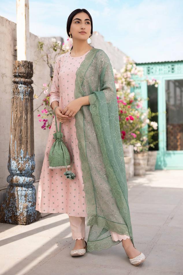Handwoven Chanderi Anarkali Set