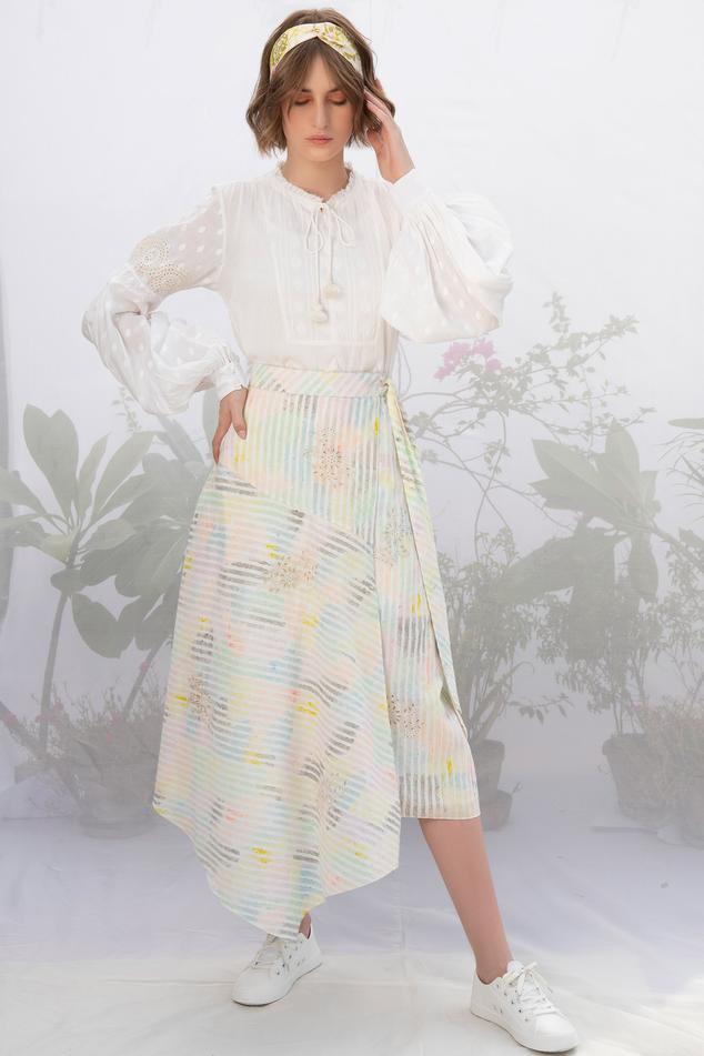 Linen Skirt Set