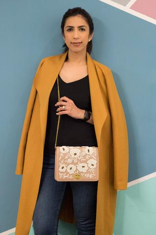 Floral Embroidered Flap Sling Bag