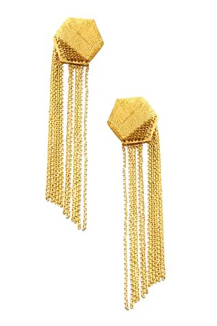 Geometric Chain Long Earrings