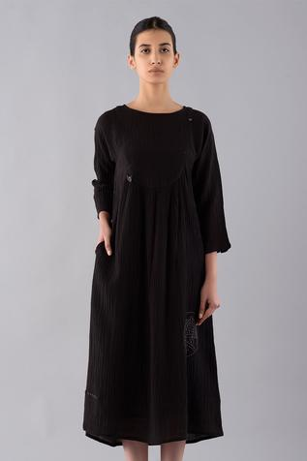 Temari Cotton Linen Dyed Midi Dress