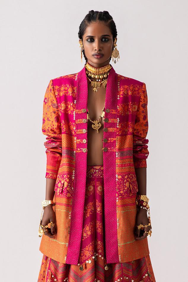 Dhana Colorblock Long Jacket