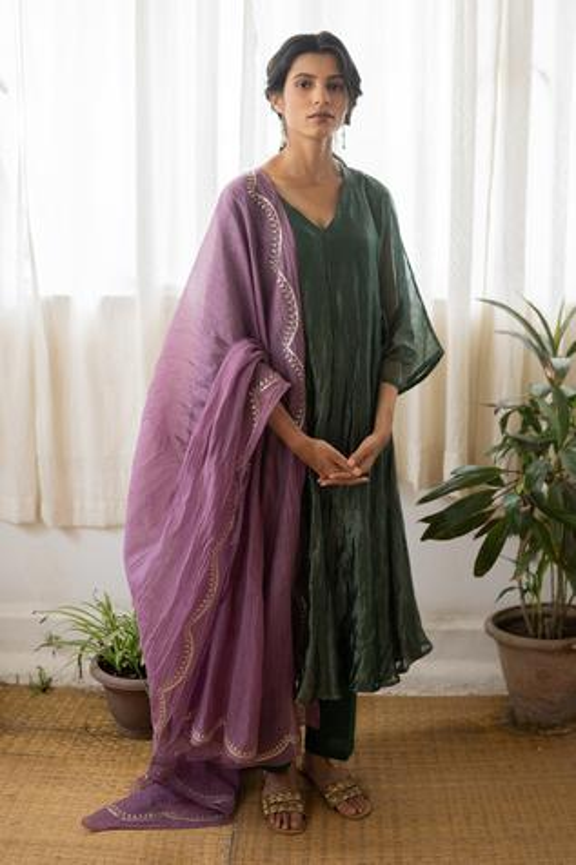 Handwoven Banarasi Zari Kurta Set